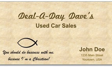 "Beware the ""Christian fish"" on the business card"